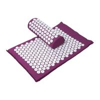 1Pc Acupressure Massage Pillow Cushion Yoga Mat Massager Relieve Stress Pain Acupuncture Purple Drop Shipping Y3