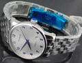 Parnis 38mm Luxurious Stainless steel belt white dial blue watch hands miyota Automatic Movement Womens Wristwatch