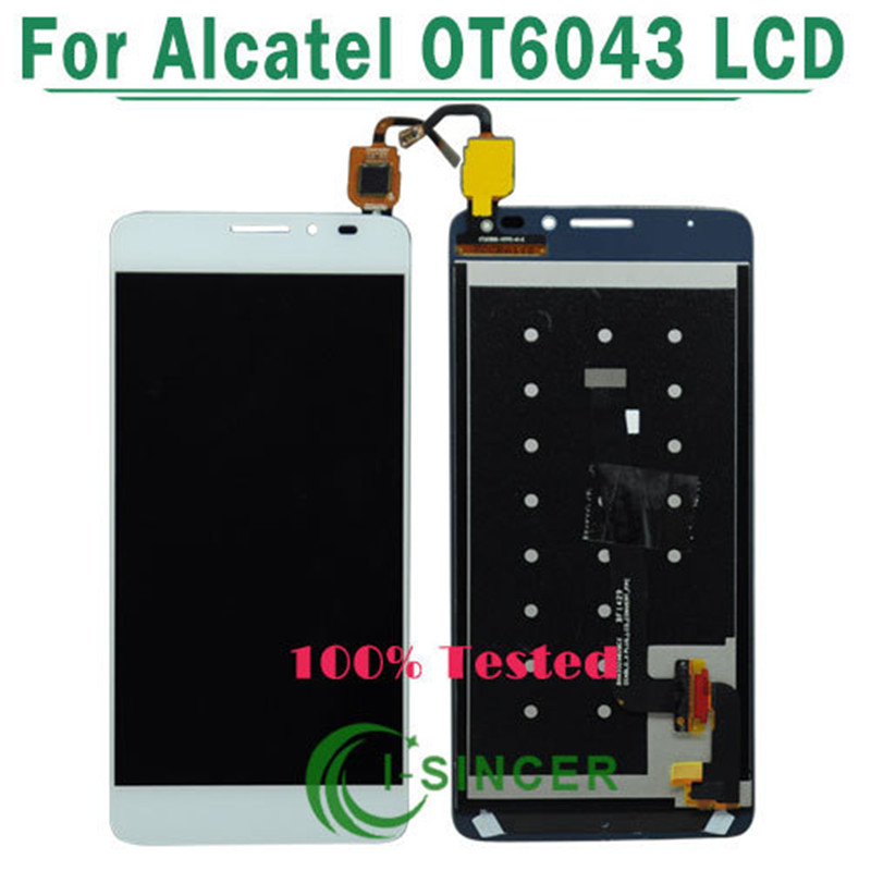 White,Black 1/PCS For Alcatel One Touch Idol X+ 6043 OT6043 lcd display with touch screen digitizer assembly Free Shipping  white black 1 pcs for alcatel one touch idol x 6043 ot6043 lcd display with touch screen digitizer assembly free shipping