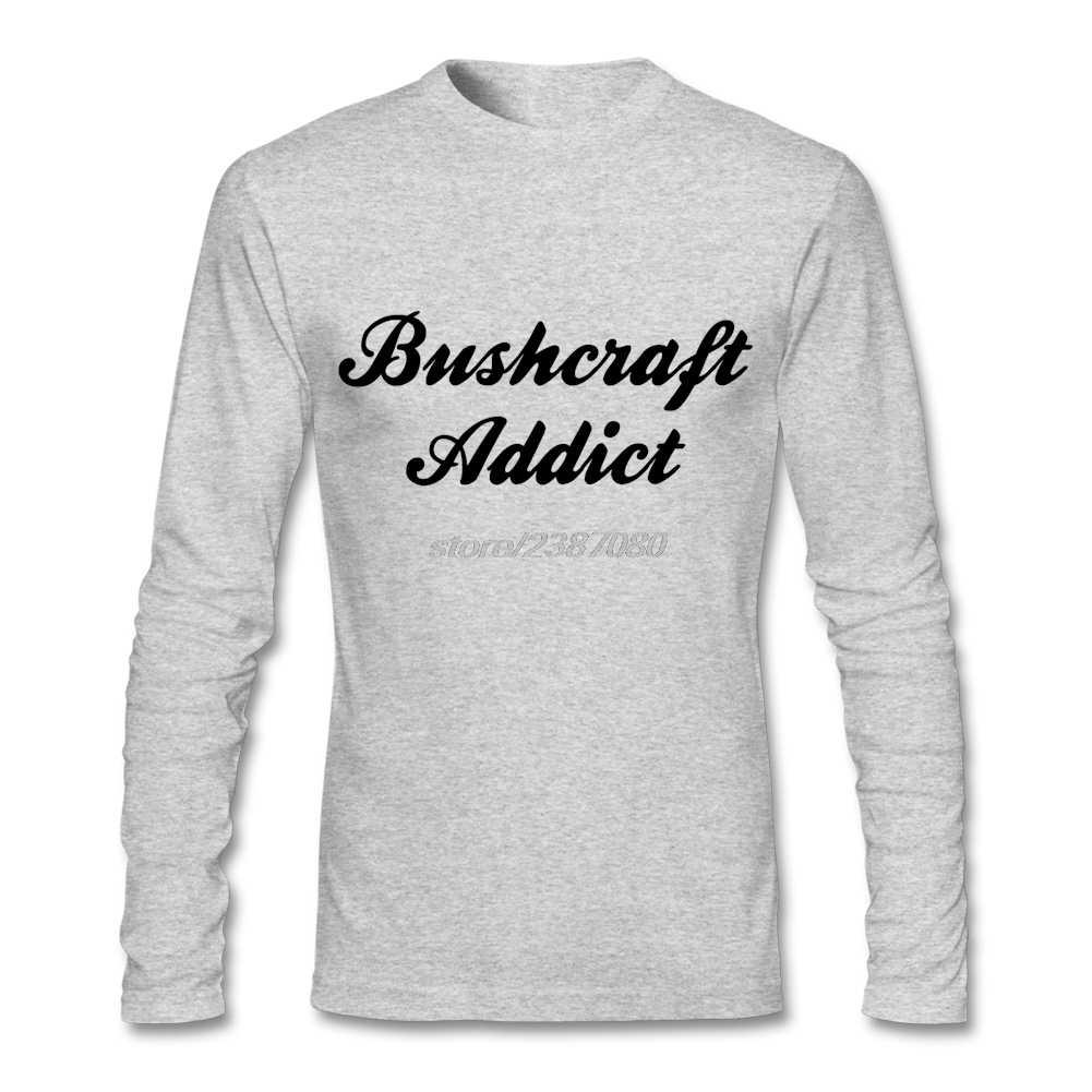 Di alta Qualità O Collo Uomini Bushcraft Addict Migliori Magliette di Creare Maschile di Cotone Tee Shirts