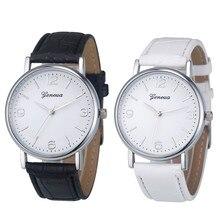 2017Relogio Feminino Hot Sale Deluxe BusinessLeather Analog Quartz Unisex Wrist Watch#MAY22