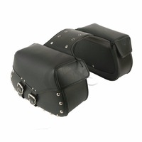 Motorcycle Saddlebags Leather Tool Luggage Saddle Bag Cross For Harley Cruiser Chopper Sportster 883 1200 XL Softail Dyna