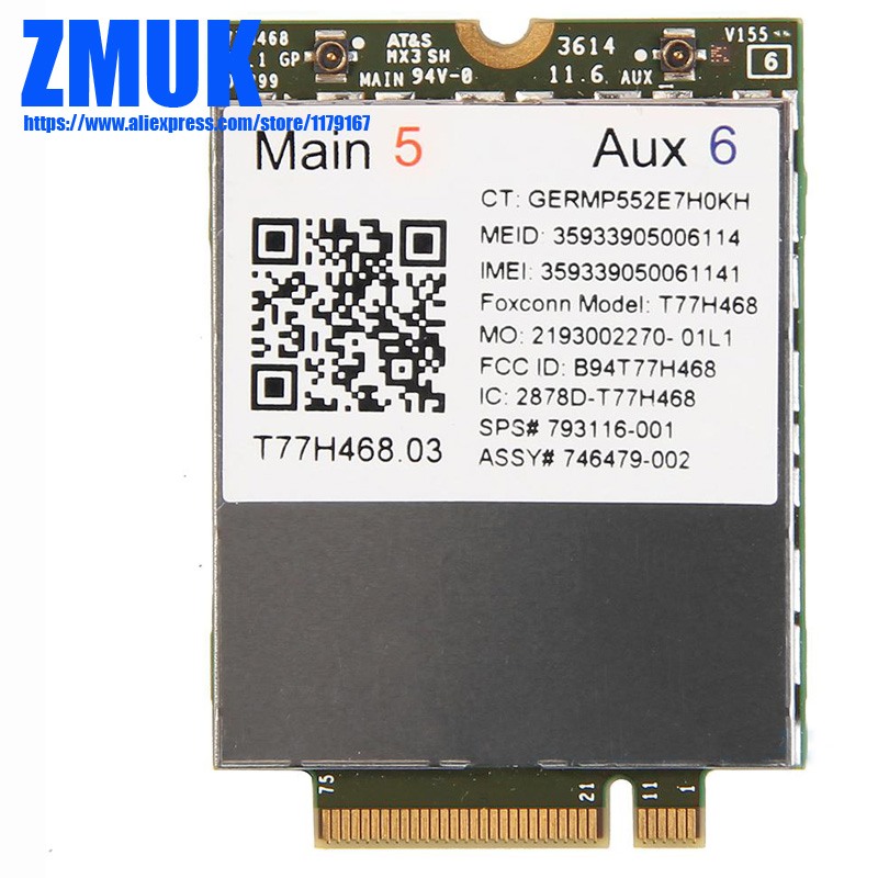 It4211 LTE/EV-DO/HSPA+ Mobile broadband WWAN Module For hp EliteBook 810 820 840 850 ZBOOK 14 15 17 Series,SPS 793116-001 huawei me936 4 g lte module ngff wcdma quad band edge gprs gsm penta band dc hspa hsp wwan card