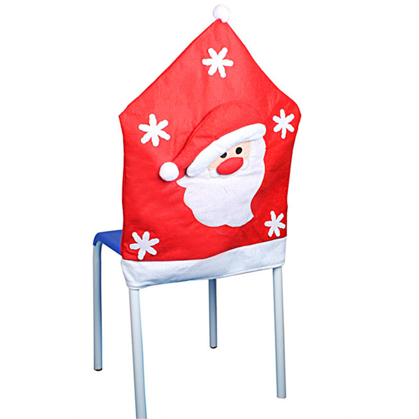 Lovely Pet 1PC Father Christmas Chair Covers Dinner Table Decor Party Home Drop