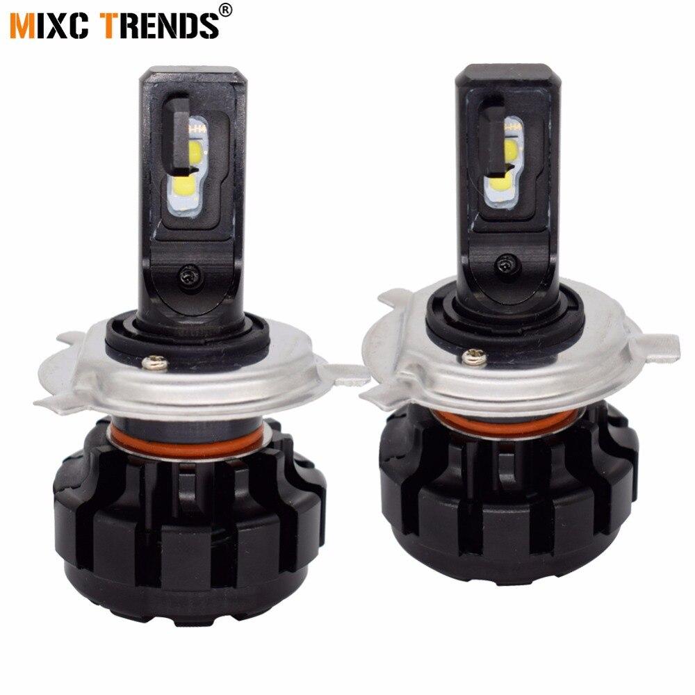 Mini H7 H4 Voiture ampoules de phares LED Salut-Lo Faisceau H1 H3 H11 H8 HB3 HB4 9005 9006 880 881 6500 K Auto Phare Antibrouillard Ampoule 12 V 24 V