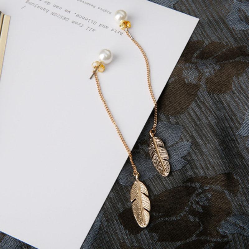 Leaf tassel earrings jewellery