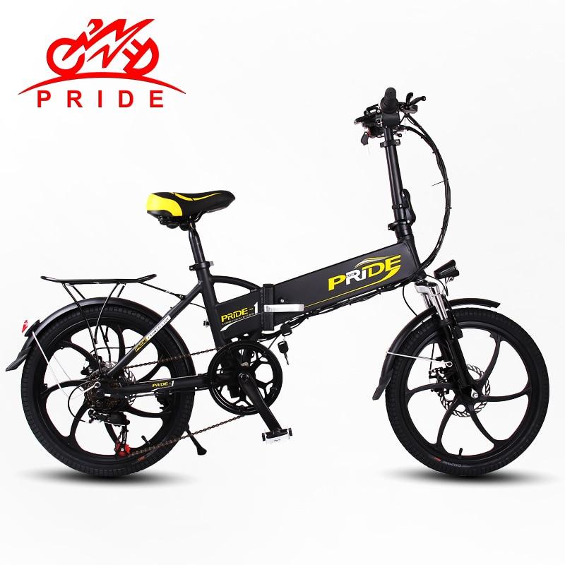 Pride Electric Bike 48v10a Lithium Battery Aluminum