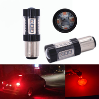 2pcs Cree Led Chips 1157 BAY15D Bulbs 16 Led High Power Lamp Brake Lights Red P21