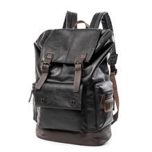 Backpack for Men fashion vintage leather backpack school bag men's travel bags large capacity travel laptop backpack bags стоимость