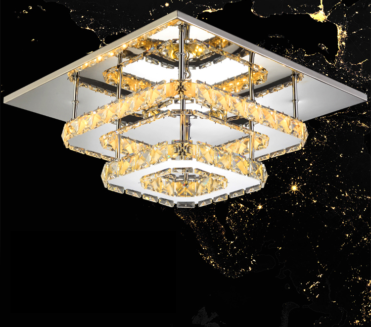 HTB19AZOXcfrK1Rjy1Xdq6yemFXa9 Modern Crystal LED ceiling light Fixture For Indoor Lamp lamparas de techo Surface Mounting Ceiling Lamp For Bedroom