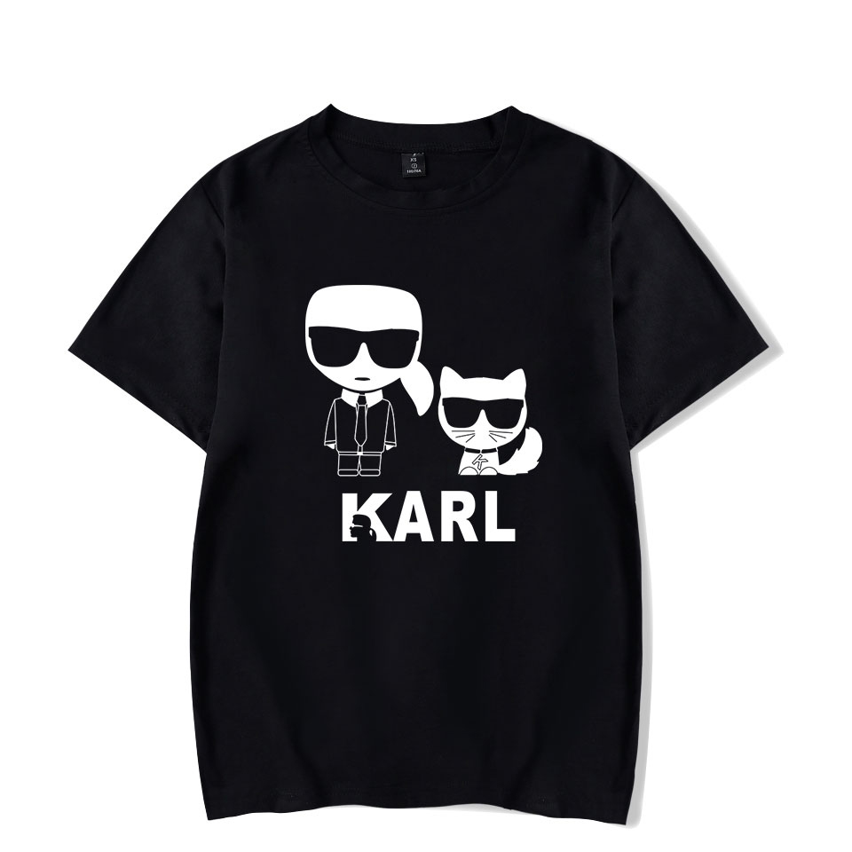 2019 Karl Lagerfeld   T     shirt   Men Women Hot sale Summer tshirt New Print Karl Lagerfeld   t  -  shirts   Men's Fashion
