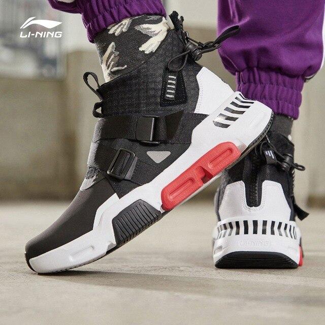 Li-Ning мужчины SURVIVER K Lifestyle обувь носимых анти скользкая подкладка стильный спортивная обувь комфорт кроссовки AGLP037 YXB271