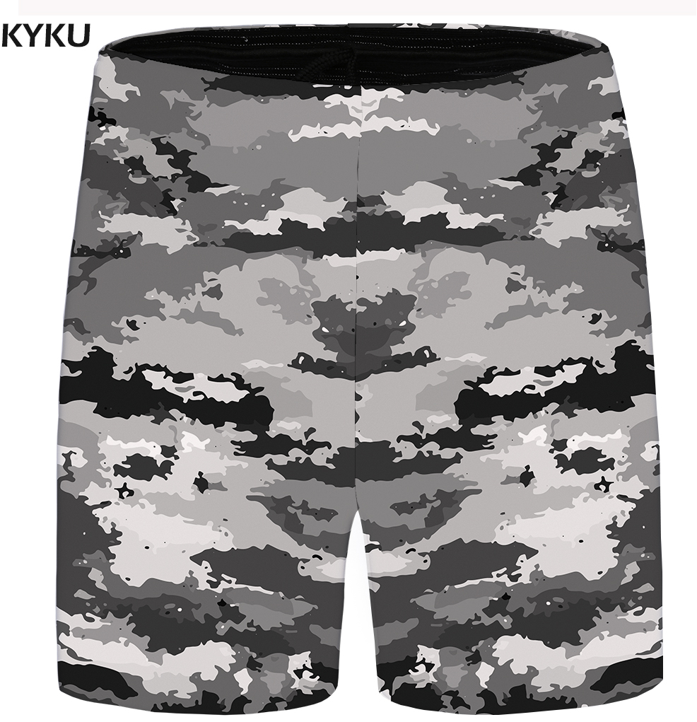 KYKU Painting Shorts Men Space Beach Casual Shorts Cargo Gray Big Size Cool Mens Short Pants 2018 New Male Summer High Quality