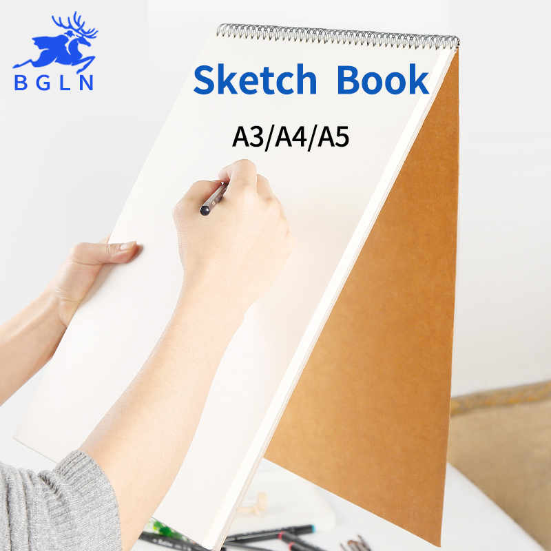 Bgln A3/A4/A5 30Sheets Sketch Book For Drawing Painting Professional Cattle Card Sketch Paper Book Art Supplies kicute 1pc art thick blank paper sketchbook drawing book for drawing painting sketch scrawl student stationery pattern random