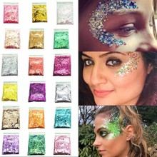 Holographic Chunky Glitter 1MM/2MM/3MM 50grams Holo Hair Eyes Face Body Iridescent Festival Cosmetic 25C