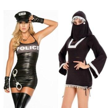 1b64ae16e Mulheres Policiais e Freira Anime Cosplay de Star Wars em Partido Do  Carnaval de Halloween Vestidos Role Playing Fantasias Adulto Sexy Profunda V