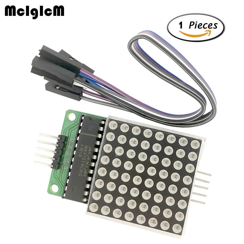 MCIGICM MAX7219 Dot Led Matrix Module MCU LED Display Control Module Kit