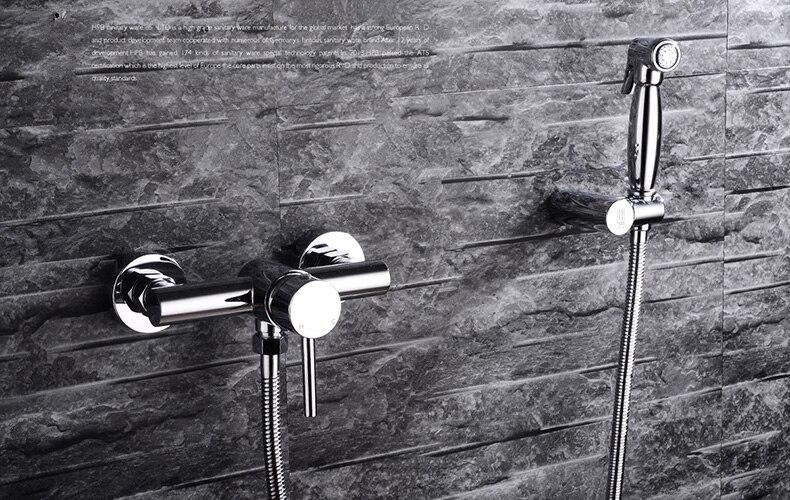 Toilet Bathroom Hand Held Bidet Spray Shattaf Brass Hot