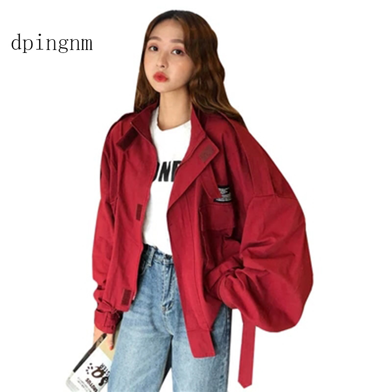 New Stylish 2019 Bomber   Jacket   With Pockets Cotton   Jacket   Women   Basic   Coats Stylish EasyFit Fashion Outerwear