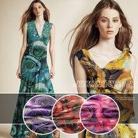 Custom silk lustrine cloth burnt out fabric rotten cloth scarf shirt dress clothing DIY