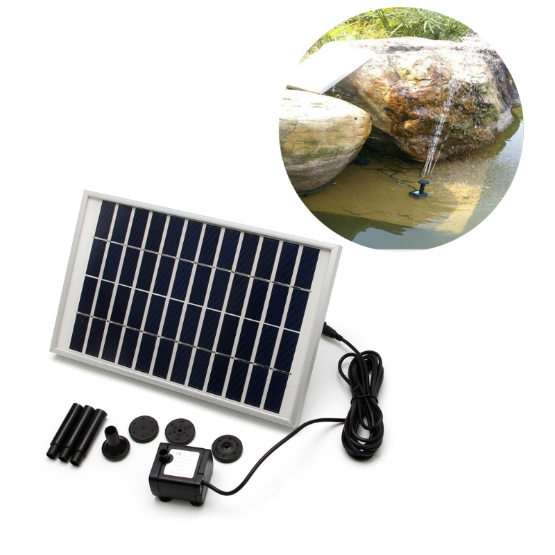 Home Improvement Nice 12v/5w Solar Fountain Garden Water Pump For Landscape Pool Maximum Flow 380l/h Garden Decor Submersible Promoting Health And Curing Diseases Pumps