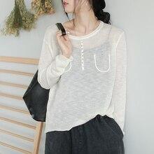 maglia maglione Sottile manica