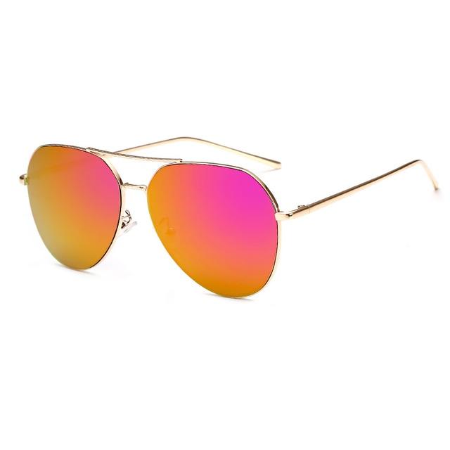 VictoryLip 2017 Fashion Rose Gold Brand Designer Ladies Sunglasses Women Men Piolt mirror Metal Frame Sun Glasses aviation 2