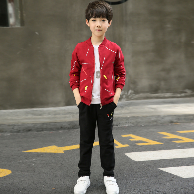 Children Clothing Sets For Boys Spring Autumn Jacket + Pants 2 Piece Set Boy Sport Suit 5 7 9 11 13 Boys Tracksuit