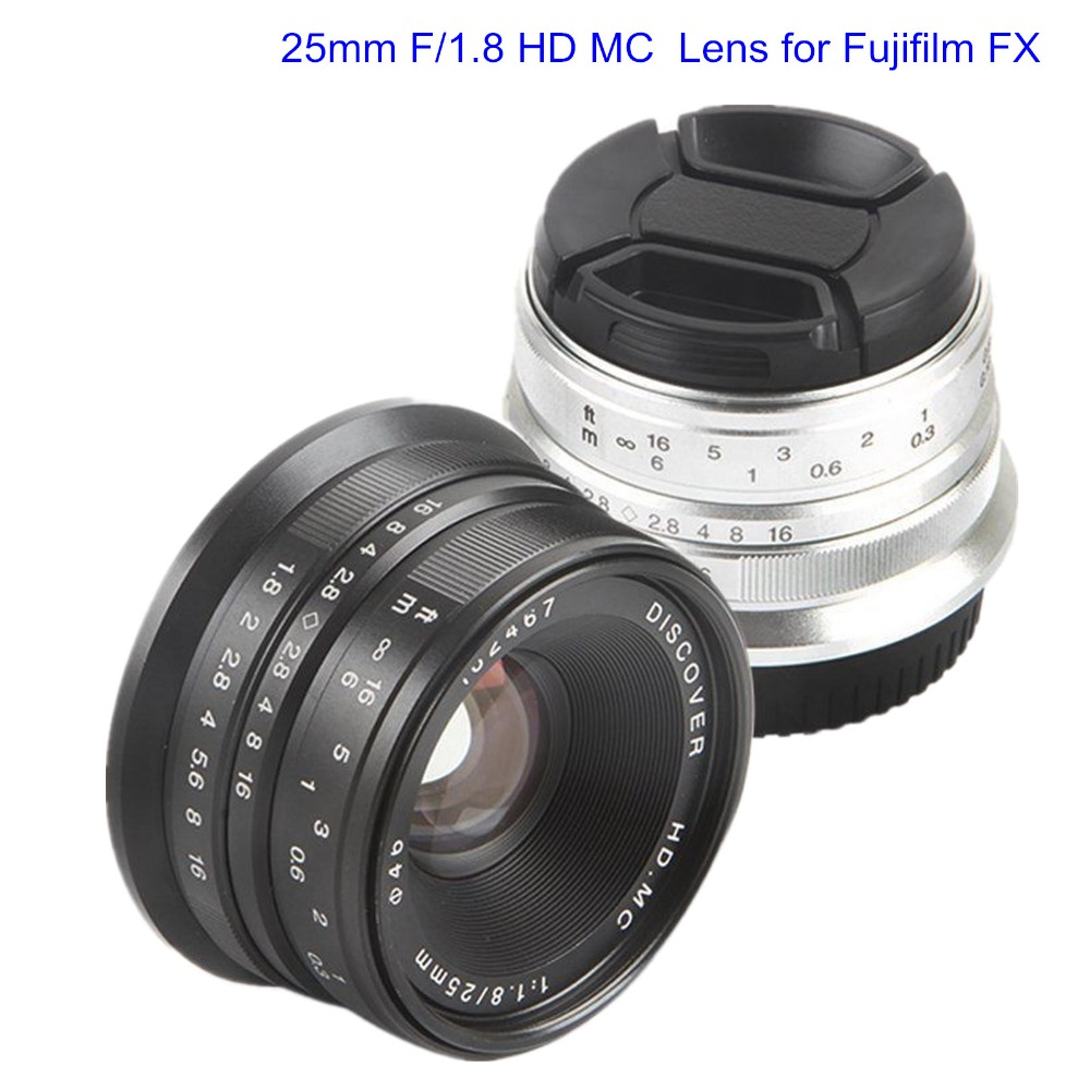 25mm F/1.8 HD MC Manual Focus Wide Angle Lens for Fujifilm FX Camera X-T10 X-T20 X-T1 X-T2 X-PRO2 X-PRO1 X-E2/2S X-E1 X-M1 X-A3 new 50mm f 1 8 aps c f1 8 camera lens for fujifilm x t10 x t2 x t1 x a3 x a2 x a1 x pro2 x pro1 x e2 x e1 x m1