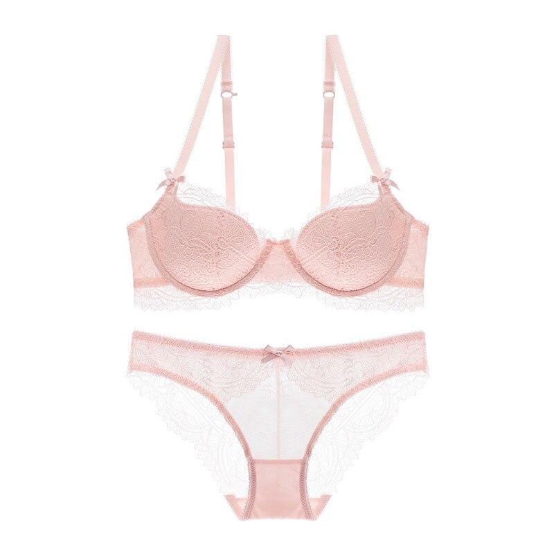 TERMEZY Women's sexy   bra     set   lace underwear adjustable straps plus size lingerie push-up   bra   and underwear   sets   vs pink