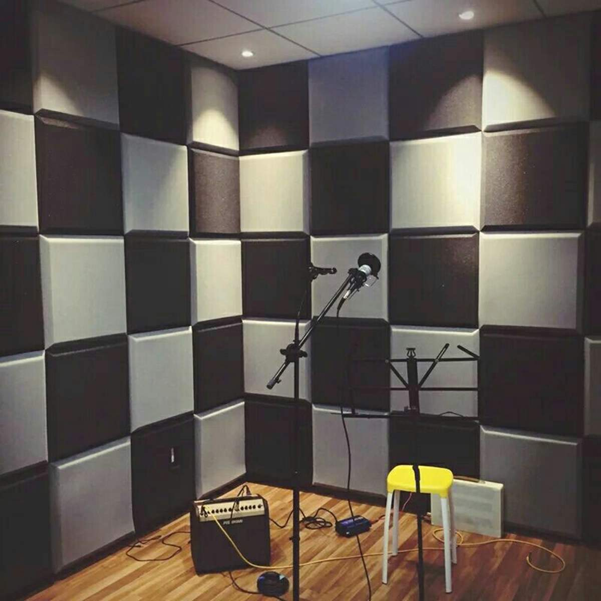 10Pcs 300x300x50mm Soundproofing Foam Acoustic Panels Studio Tiles AbsorptionTiles Polyurethane Foam