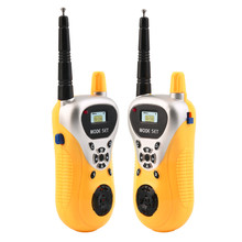 Abbyfrank 2Pcs Intercom Electronic Walkie Talkie Toy Spy Gadgets Intercom Children Portable Two-Way Radio Set Children Toy Gift