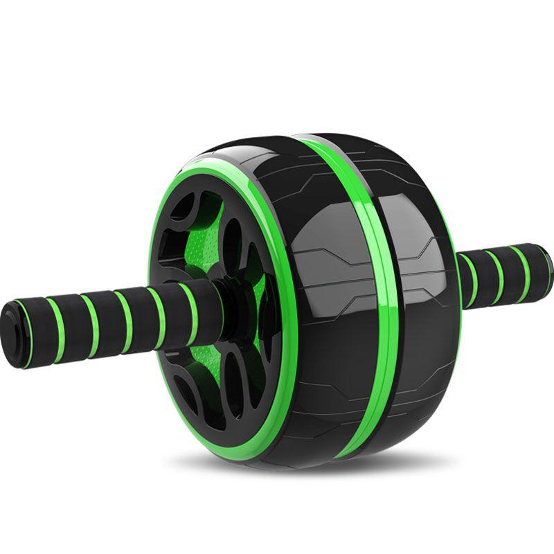 Nouveau garder les roues en forme pas de bruit roue abdominale vert Ab rouleau avec tapis pour exercice équipement de Fitness rouleaux