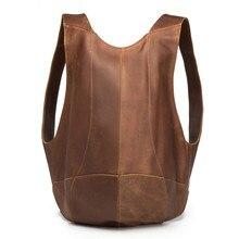 Genuine Leather Mens Backpack Business Messenger Male Shoulder Casual Tote Men  Large Travel Bag Mini Hand Hyzou