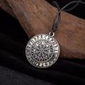 Aegishjalmur Viking Runas Pingente Leme de Temor Asatru Pagã Jóias Masculinas Colar Gótico Antigo Talismã Amuleto jóias