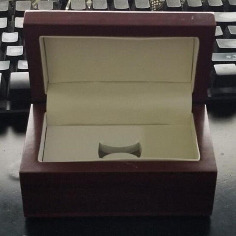 Usine prix de gros une fente en bois championnat anneau boîte d'affichage livraison directe
