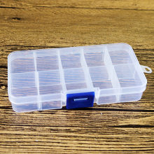 New Practical Adjustable 10 Compartment Plastic Storage Box Jewelry Earring Bead Screw Holder Organizer Container kit