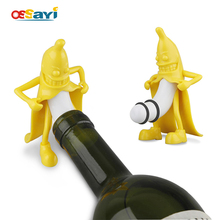 Wine Stopper Funny Mr. Banana Corkscrews Figure Wine Beer Bottle Cork Stopper Plug Novelty Bar Tools Interesting Gifts 10x6cm