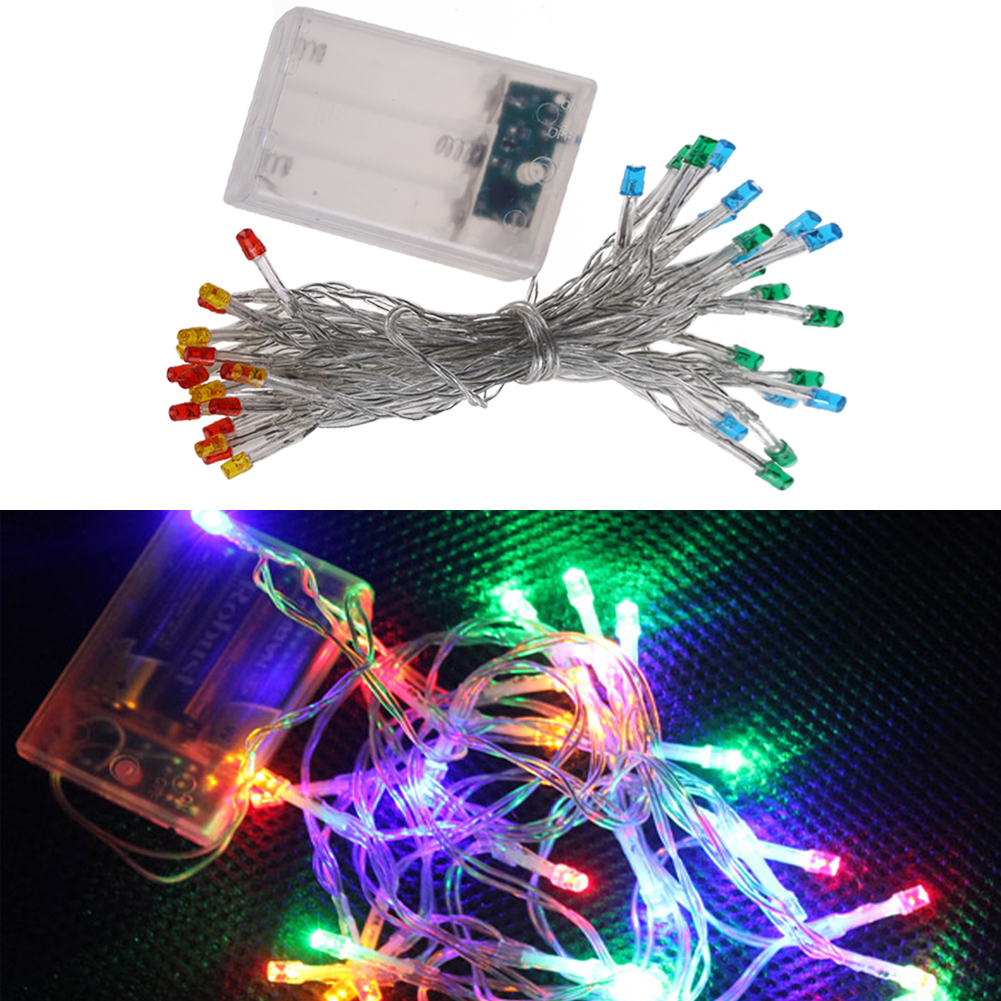 4M 40 LED String Lights Battery Operated for Xmas Garland Party Wedding Decoration Christmas Flasher Fairy Lights TH4