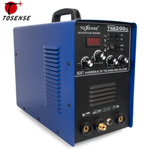 Aluminum Welder 220V TIG MMA ARC Stick 200A Welder AC DC IGBT Inverter Welding Machine With Welding Consumables TSE200G dekopro mka 200 200a 4 9kva ip21s inverter arc mig 2 in 1 electric welding machine w replaceable welding gun mma welder