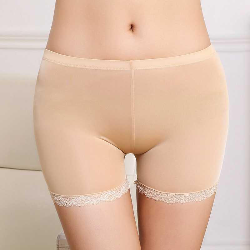 Przezroczyste Sexy bezpieczeństwa krótkie spodnie dla kobiet Slim cienkie lato krótkie spodnie Skinny Bodycon szorty bezpieczeństwa bielizna WZXM11CN