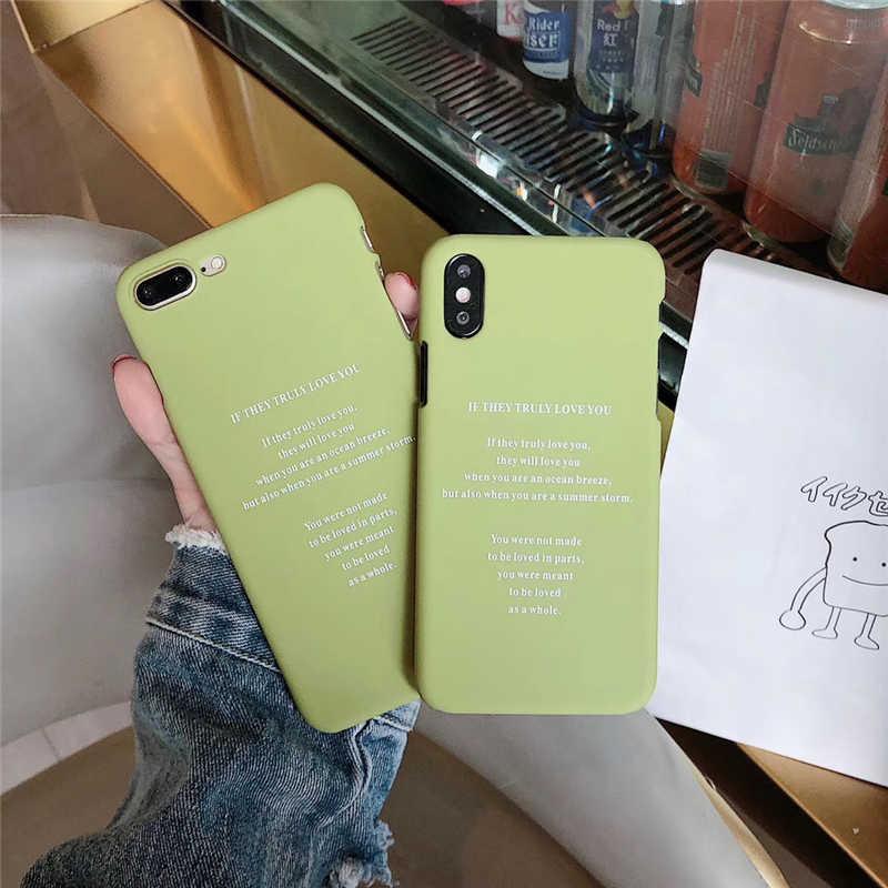 漫画のカップル電話ケース iphone X XS XR ケースのための iphone 6 S 7 8 プラス超薄型ハード Pc バックカバーおかしい手紙ケースの Capa