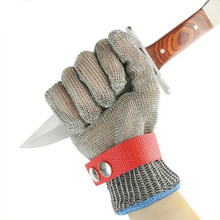 все цены на Stainless steel anti-chainsaw cut resistant safety gloves working anti-cut gloves metal glove онлайн