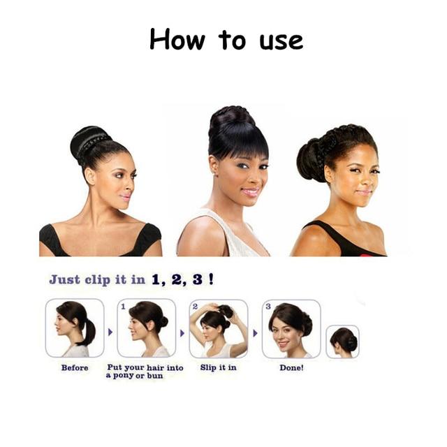 New Braid Women Hair Chignon Hair Sticks Novelty Synthetic Hair Buns Extension HA026