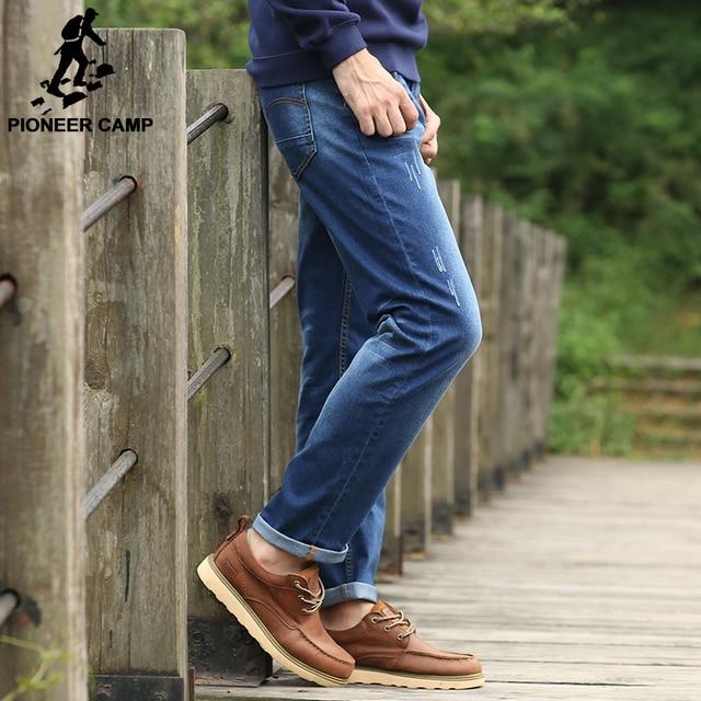 Pioneer Camp 2017 осень-Весна высокого качества бренда джинсы мужчин упругие мужские джинсовые брюки случайные длинные мужчин джинсы мужские брюки 571509