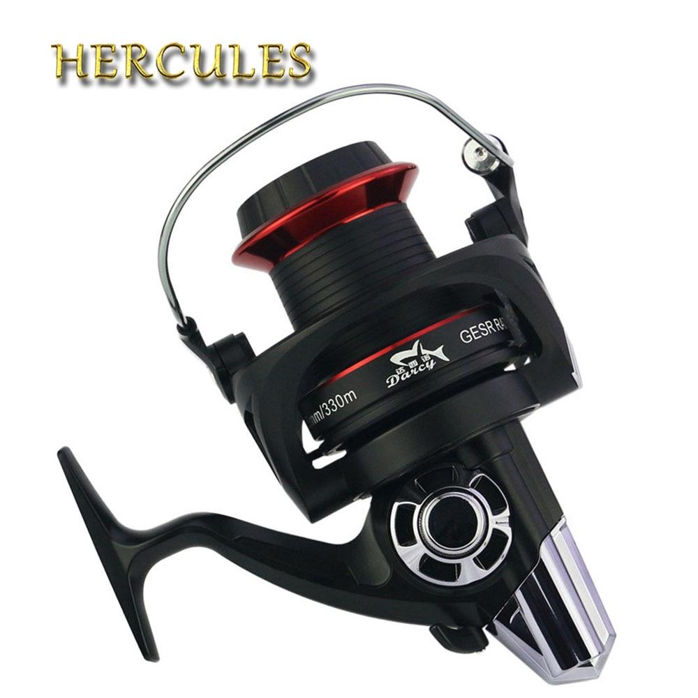 цена на Hercules G-Ratio 4.1:1 Spinning Fishing Reel 14+1 BB Ball Bearings Carp Reels Worm Shaft Distant Wheel Carp Reel Fishing Reel