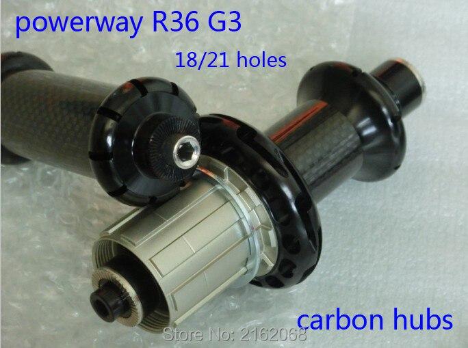 Новые Powerway R36 G3 шоссейные велосипеды сплава углеродного волокна велосипед концентраторы с шампуры 18/21 отверстий road частей черный красный цв