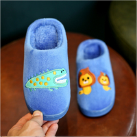 Winter Flock Animal Kids Slippers Warm Plush Baby Home Slippers Boys Girls Toddler Shoes Child Flip