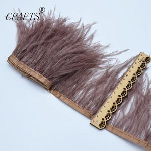 Image 5 - Vente ceinture en tissu de plumes dautruche blanche