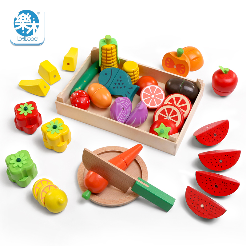 Ultimate SaleLogwood Toys Vegetable-Toys Game Simulation Montessori Cutting-Fruit Kitchen-Series Classic
